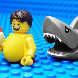 Lego Shark vs Body Building - Gym Fail