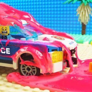 Lego Slime Police Car Gum Fail