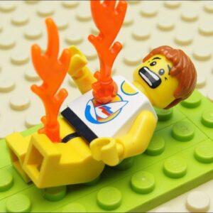 Lego Sunbathing