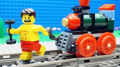Lego Train Gym Fail - Bodybuilding