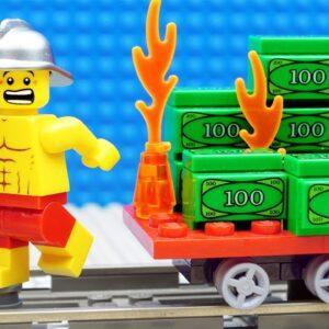 Lego Train Gym Money Fail - Firefighter