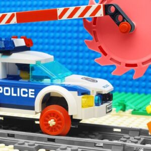 Lego Train Police Excavator Transport Fail