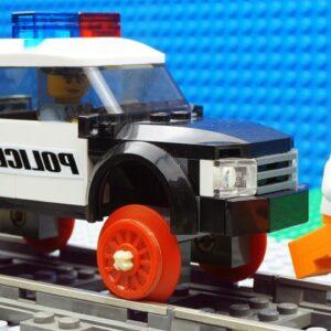 Police Car-Train vs Bulldozer Car Fail