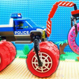 Police Car vs Donut Truck Fail Lego