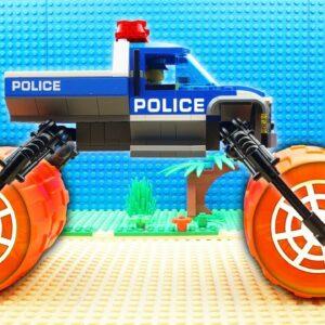 Police Car vs Parkour Truck Fail Lego