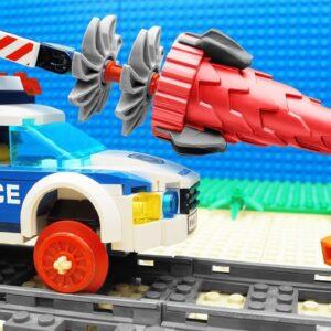 Police Crane Tractor vs Bridge Lego