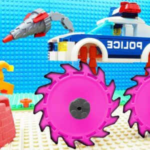 Police Extreme Streamroller vs Bus Fail Lego