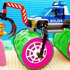 Police Max Truck vs Police Bus Fail Lego