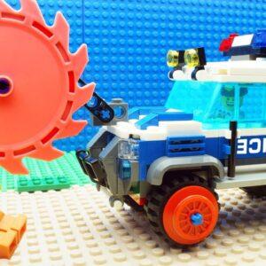 Police Safe Train Lego vs Steamroller Car Fail