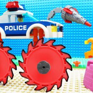 Police Super Bulldozer Truck vs Wall Fail Lego
