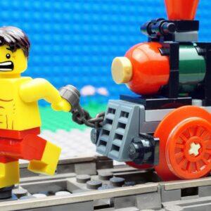 Police Super Car vs Locomotive Train Fail Lego