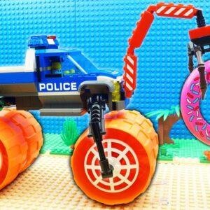 Police Super Safe Truck vs Car Fail Lego