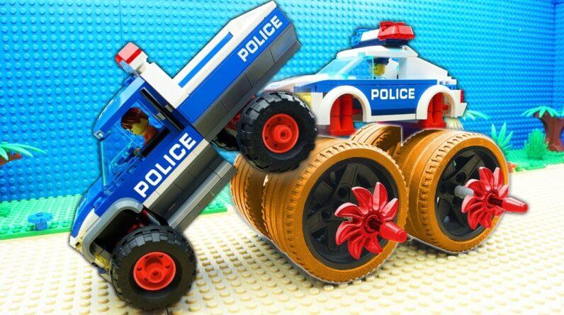 Police Super Truck vs Police Car Fail Lego