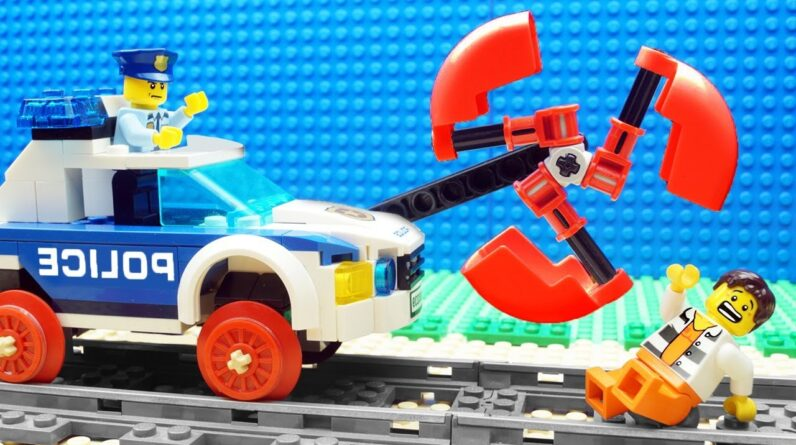Police Truck vs Mega Excavator Fail Lego