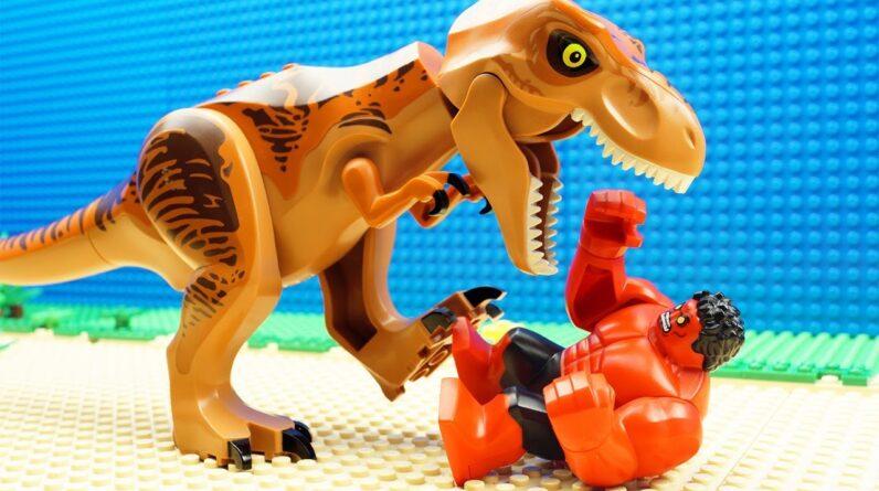 Red HULK vs Godzilla Dino Team Fail
