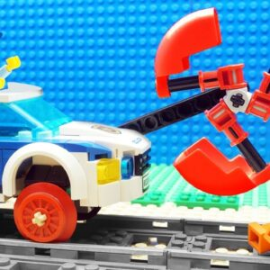 Super-Truck vs Police Truck Fail Lego