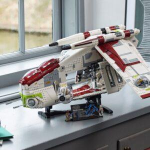 the lego star wars ucs republic gunship 75309 finally revealed