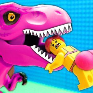 Veggie Food Truck vs Donut Dino Lego