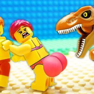 Veggie  Food vs Beach Gym Lego