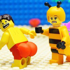 Veggie Food vs Bee Fail Lego