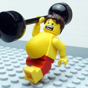Veggie Food vs Gym Food Lego
