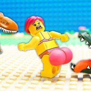 Veggie Food vs Safari Fail Lego