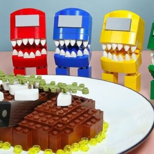 LEGO AMONG US : If Everything is FOOD IRL | Animation Stop Motion Cooking ASMR