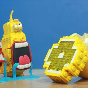 Making Lego Cheesecake Lemon for LARVA - Lego in Real Life / Stop Motion Cooking ASMR