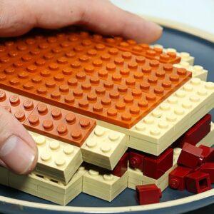 Lego Dorayaki Recipe | Japanese Pancake Street Food - Stop Motion Cooking & ASMR