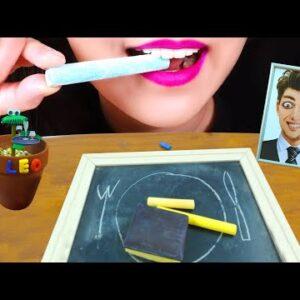 ASMR EDIBLE CHALK CANDY FOOD PRANK CRUNCHY EATING SOUNDS  Mukbang Animation