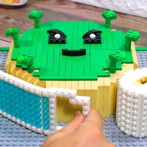 COVID CAKE from LEGO in Real Life - Stop Motion Cooking & ASMR (CoronaVirus)