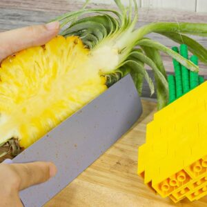How To Make Hawaii LEGO Pineapple Fried Rice In Real Life - Funny Stop Motion Cooking ASMR