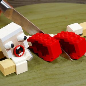Lego Minecraft: Perfect Grilling Lamb Chops IRL | Stop Motion Cooking & ASMR 4k