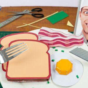 Eating PAPER BREAKFAST !! Lina Tik ASMR Mukbang food sounds no talk/DIY Origami