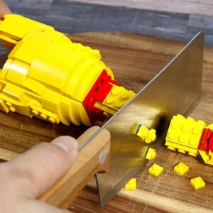 What if we make Rubber Chicken BBQ from LEGO 🤔 Stop Motion Cooking & ASMR 4K