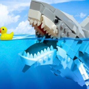 MAKING LEGO SHARK SASHIMI IRL 🦈 ASMR Mukbang Seafood / Stop Motion Video