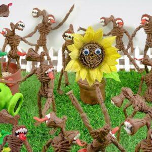 100 SIREN HEADS vs... 1 SUN FLOWER?! ASMR Food Mukbang