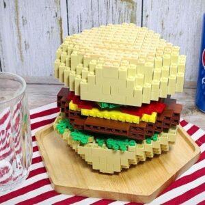 LEGO BURGER 🍔 Eating Hamburger In Real Life   Stop Motion Cooking ASMR Funny Video