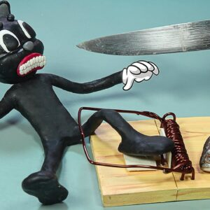 I set a TRAP for CARTOON CAT and the ENDING.... ! ASMR Stop Motion Funny Animation