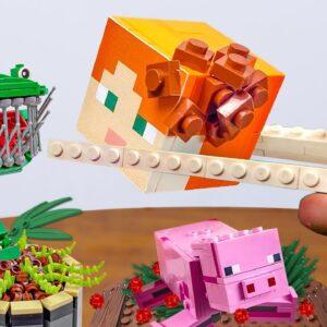 Eating Lego Minecraft Food: Poor Alex Life (Sad Story but Happy Ending) ASMR Mukbang Sounds