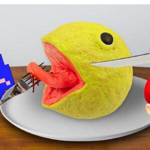 PAC-MAN For Meal In Real Life| Lina Tik Eating ASMR Food Mukbang Funny Video