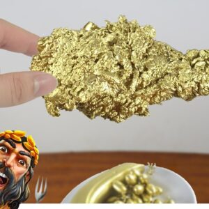 ASMR Eating GOLD FOODS (Chicken,Banana,Grapes,Lobster) - Mukbang 먹방 Eating Sounds No Talking