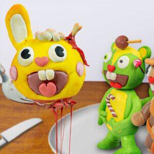 Kluna Tik eating Sandwich HAPPY TREE FRIENDS In Real Life - ASMR eating sounds/ Mukbang food no talk