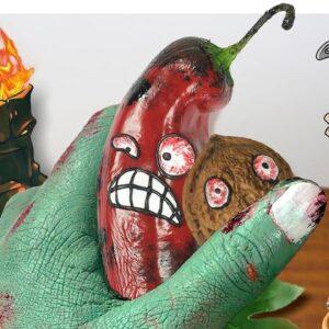 ASMR Mukbang Food: Eating Plants Vs Zombie Real Life