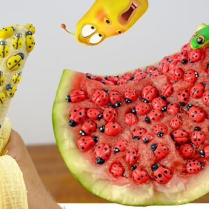 *ASMR* Weird Fruits (full of BUGS) - Mukbang Food No Talk