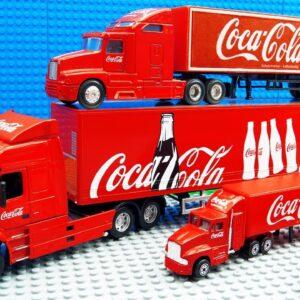 Big Coca Cola Trucks Super Transporter Trolly Truck