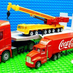 Big Crane Front Loader Concrete Mixer Dump Trcuks Racing