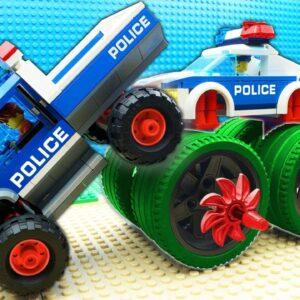 Big Police Dump Truck Forklift Tram Helicopter