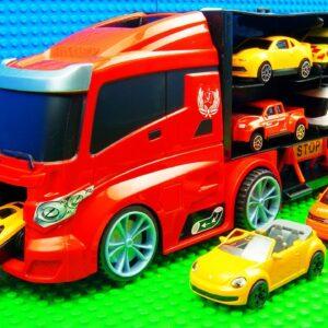 Big Police Trucks Crane Pickup SUV Racing Wrecker Tractor