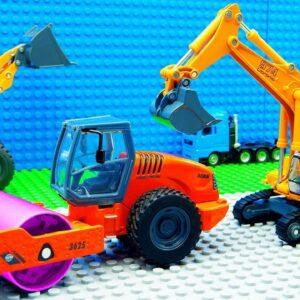 Big Streamroller Truck Super Crane Truck Building Racing